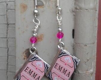 """Jane Austen """"Emma"""" earrings"""