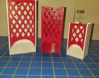 New Version - Latticework Faceplate - Fits Our Dice Towers - 3D Printed