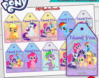 My Little Pony Tags Etsy