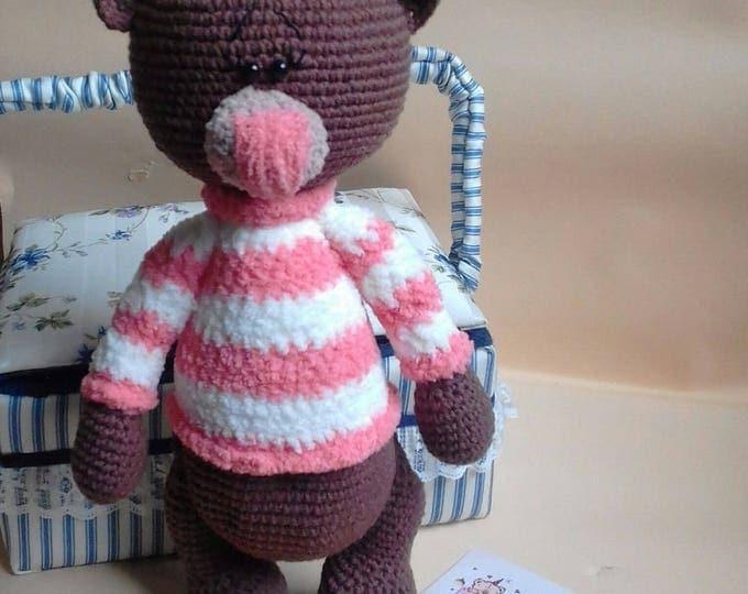 PATTERN Crochet Bear toy Bear PDF Amigurumi Bear Tilda Bear Girl Handmade Bear Christmas Bear Digital downloads