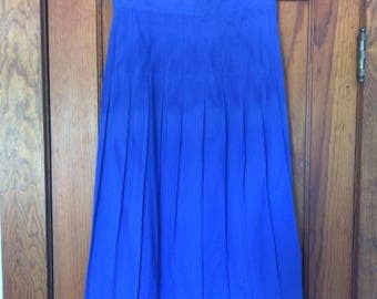 Vintage 1980s Blue/Violet long career skirt Size 13/14