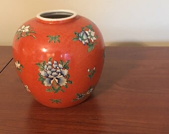 Japanese Ginger Jar.  Lid is missing can use as a small vase.