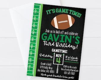 Football Birthday Invitation -Football Sports Birthday - Football Birthday Invite - Sports Party - Digital/Printable OR Printed & Shipped!