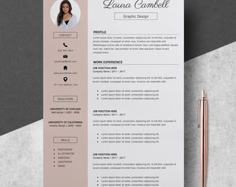 Modern Resume Template, CV Template For MS Word, Professional Resume Design,  Resume Template  Graphic Design Resume Template