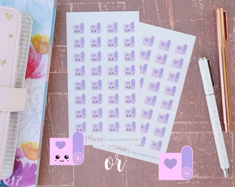 32 Mini Kawaii (or Non Kawaii) Yoga Mat Stickers // Planner Stickers for Erin Condren and others. Cute yoga   pilates mat   barre fitness