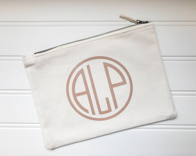 Featured listing image: Natural Cotton Personalised Monogram Bag