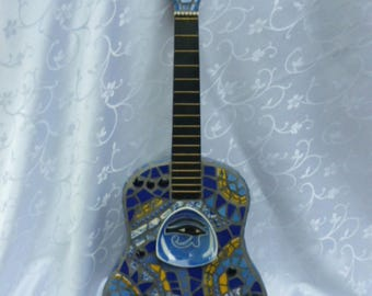Eye of Horus Mosaic Guitar