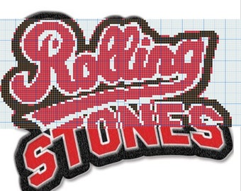 Rolling Stones PDF knitting pattern LVL - 3