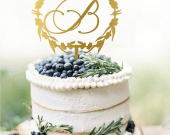 Customized Initial Wedding Cake Topper, Personalized Cake Topper for Wedding, Custom Personalized Wedding Cake Topper, Monogram Cake Topper
