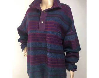 Vintage PENDLETON LOBO Wool Sweater Pullover Striped Rugby Style