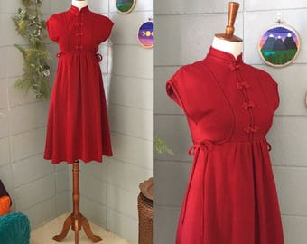 1960's Red Wool Dress