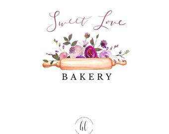 Premade Business Logo-Bakery Business Logo-Floral Business Logo
