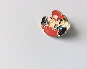 VINTAGE MARIO PIN 90s / supermario / Mario bros / Nintendo / memorabilia / video games / 90/ characters / nostalgia / Gameboy / arcade