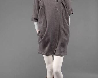 100% Linen Cloak-Coat Urban Style