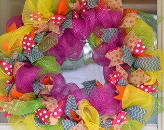 Custom Deco Mesh Wreath