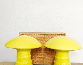 large mushroom salt and pepper shakers mid century kitchen decor salt and pepper - Midcentury Kitchen Decor