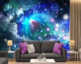 Galaxy Wall Mural space wall mural outer space wall mural galaxy wallpaper