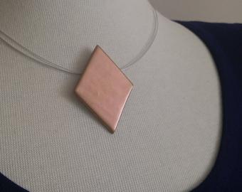 Gold Geometric Pendant Necklace- Minimalistic Style