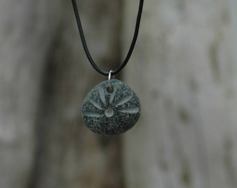 Irish Natural Beach Pebble Engraved Pendant Necklace
