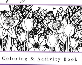 Spring into Summer Coloring & Activity Book