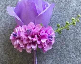 groomsmen Boutonniere, groom flower pin