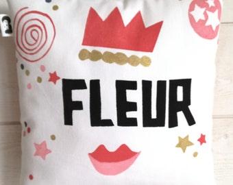 Decorative pillow custom name.