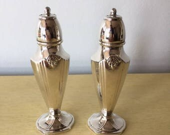 Vintage Oxford Plate Silverplate Salt and Pepper Shakers