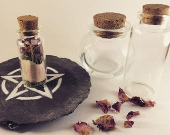 Witches Spell Bottle || Herbal Jar || Made To Order || Witchcraft || Witch Kit || Wiccan Supplies