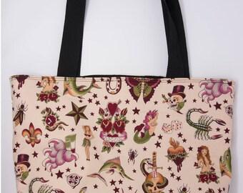 Pink Tattoo Tote Bag