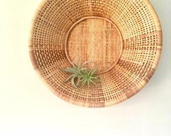 VTG Woven Straw Wall Basket