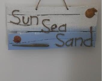 Beach Sign, Beach Decor, Rustic Beach Sign, Wood Sign, Wooden Wall Art