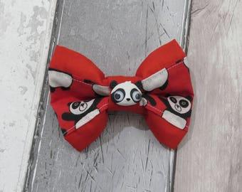 Panda Dog Double Bow Tie, Dog clothing, Doggy Bow Tie, Puppy Bow Tie, Detachable Bow Tie, Slip on bow tie