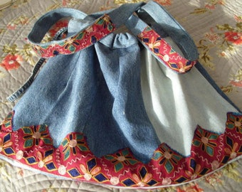 Recycled denim jeans shoulder bag