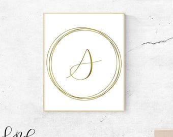 Letter S, gold, monogram, letter, initial, instant download, gold poster, printable art, wall art, gold monogram