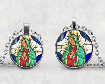 Our Lady Of Guadalupe Pendant Necklace, Virgen de Guadalupe Jewelry,  Virgin of Guadalupe Necklace, Virgencita Pendant, Senora de Guadalupe