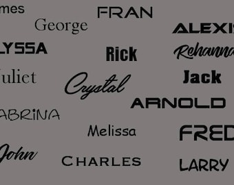 Name Decal | Name Sticker | Vinyl Decal