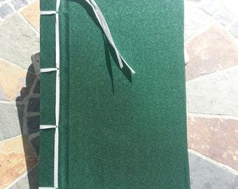 Green Stab Bound Notebook