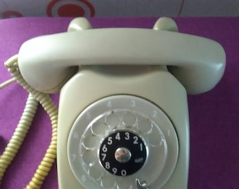 Ericsson of LM telephone set, phone ancient, 1980. business phone. Dial phone, rotor phone.