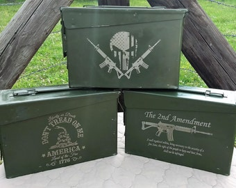 SALE** Engraved Steel Ammo Can