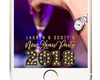 New Years Eve Snapchat Geofilter, New Years Snapchat Geofilter, New Years Geotag, New Years Eve Party Geofilter, New Years Party Decoration