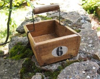Rustic wooden basket