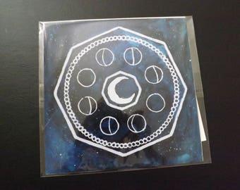 Luna 22cm x 22cm Print of Original Piece, Signed
