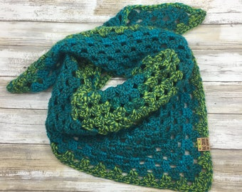 FREE SHIPPING Handmade Crochet Triangle Scarf, Scarf, Neck Scarf