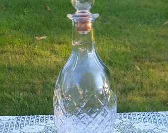 Pressed glass whiskey decanter