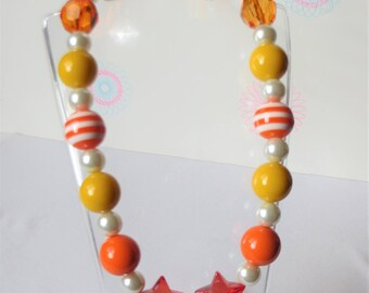 Girls Chunky Bubblegum Necklace, Little Girl Chunky Necklace, Girl Jewelry, Chunky Bead Necklace, Baby Chunky Necklace, Bubblegum Bead