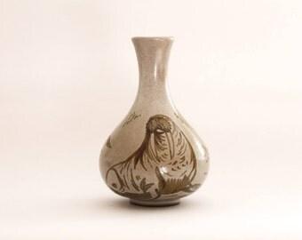 mid century walrus vase