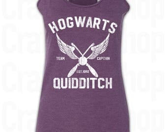 Harry Potter Hogwarts Quidditch Shirt. Hogwarts Tank Top. Hogwarts Quidditch women's racerback Tank Top. Harry Potter Shirt. Quidditch Shirt