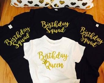 Birthday squad shirts, birthday shirt women, squad goals, birthday girl shirt, birthday tank for her, for her birthday shirts