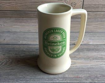 Ceramic Heineken Beer Stein