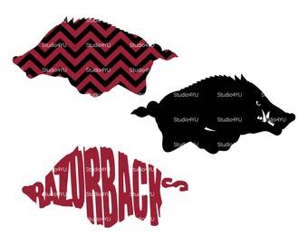 Razorback svg Wild Boar svg Arkansas svg American football svg NFL svg files for cricut svg for silhouette vector cut files svg png eps dxf